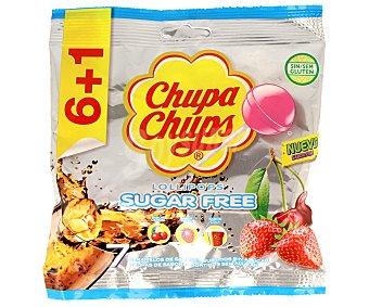 Chupa Chups Caramelos duros de sabores surtidos sin azúcar Bolsa 6 uds (66 g)