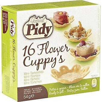 Pidy Minitartaletas con forma de flor 16 unidades envase 54 g 16 unidades