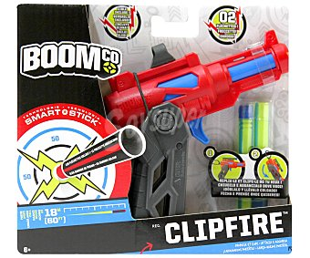 BOOM CO Lanzador Blasters Clipfire con 2 Dardos 1 Unidad