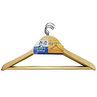 MONDEX percha de madera paquete 6 unidades