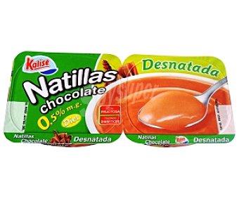 Kalise Natilla Desnatada Chocolate 2 Unidades de 135 Gramos