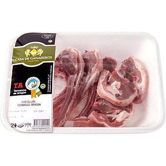 CASA GANADEROS Costillas/ chuletas de cordero lechal peso aproximado Bandeja 300 g