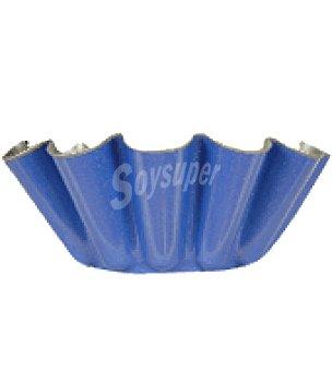 Carrefour Flanera rizada 22 cm azul