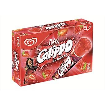 Frigo Calippo Fresa helado sabor fresa estuche 525 ml 5 unidades