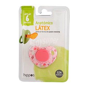 Deliplus Chupete latex anatomico de 6 a 12 meses rosa U