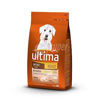 Ultima Affinity Pienso para perros mini adult de 1-8 años de 1 a 10 kg con pollo, arroz y cereales integrales Bolsa 1.5 kg