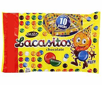 Lacasitos Lacasa Grageas de chocolate Pack de 9x16 g