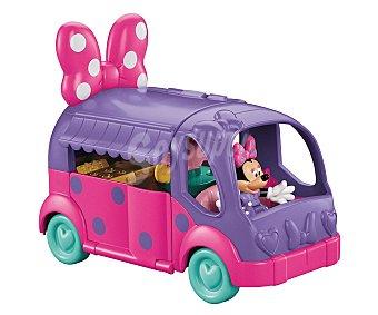 Disney Auto caravana de Minnie Mouse con accesorios y su mascota Figaro, Fisher Price 1 unidad
