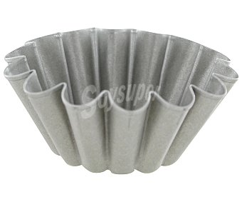 IMF Molde para flanes efecto rizado de acero inoxidable, 10x3.3 Centímetros 1 Unidad
