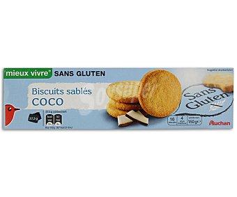 Auchan Galletas de coco sin gluten 150 gr