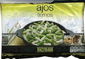 Hacendado Ajo tierno troceado congelado Paquete de 300 g