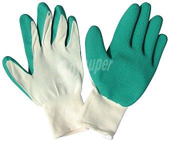 Producto Alcampo Par de guantes de jardín de nylon y nitrilo talla pequeña, con protección hasta medio dorso alcampo
