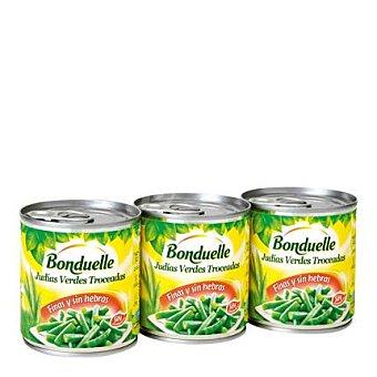 Bonduelle Judías verdes troceadas finas pack de 3x130 g