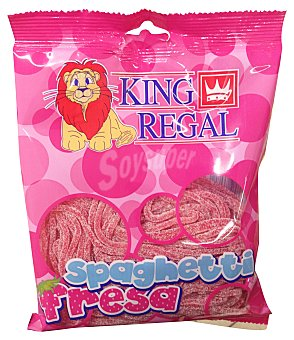 King Regal Gominolas regaliz spaguetti fresa Paquete de 250 g