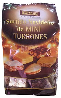 Hacendado Turron surtido mini (4 almendra rellena, 4 turron duro, 4 turron praline, 4 turron crema catalana, 4 turron CON leche) *navidad* Caja 300 g