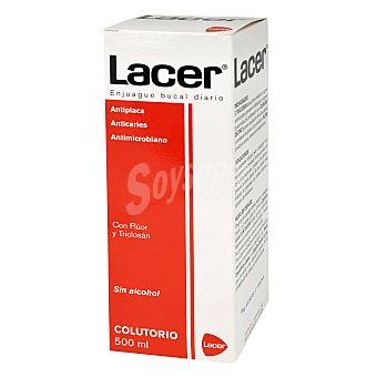 Lacer Colutorio sin alcohol con flúor y triclosán 500 Mililitros