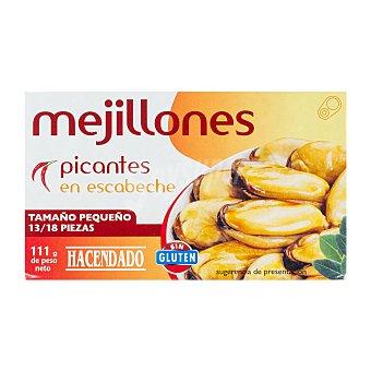 Hacendado Mejillon escabeche picante 13/18 piezas pequeños Lata 111 g escurrido 69 g