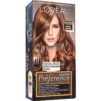 Recital Preference L'Oréal Paris Mechas sublimes para cabello castaño oscuro caja 1 unidad incluye cepillo maestro escova Caja 1 unidad