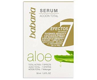 Babaria Serum Facial Aloe 7 Efectos Acción Total 50 Mililitros