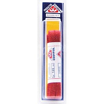 CODYFER Cordones planos rojos 120 cm