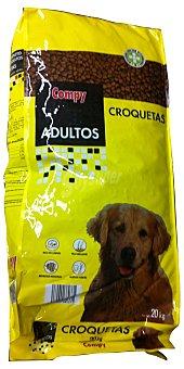 Compy Comida perro croqueta carne Paquete 20 kg