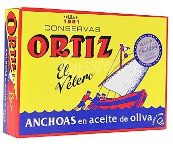 Ortiz Filetes de anchoa en aceite de oliva peso neto escurrido 50 gramos