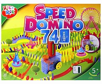 Rik&Rok Auchan Juego de Mesa Infantil Speed Dominó, 1 o más Jugadores 1 Unidad