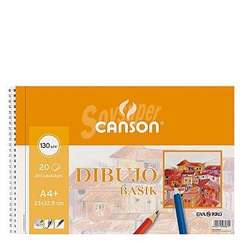 Canson Cuaderno Dibujo Basik A4+ Micro Recuadro 20 ud