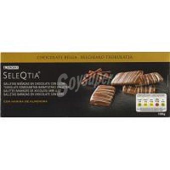 Eroski Seleqtia Galletas de chocolate con leche Caja 100 g