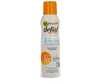 Delial Garnier Protector solar en spray sin alcohol para pieles claras, sensibles e intolerantes al sol con factor protección 50+ (muy alta) 200 mililitros