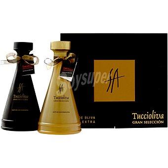 TUCCIOLIVA Aceite de oliva virgen extra Gran Selección Oro y Negro 2 botellas de 500 ml