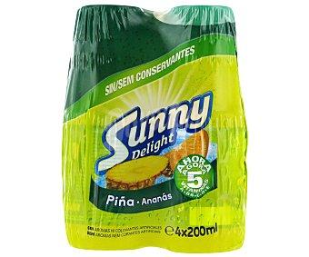 Sunny Delight Refresco de Piña 4 Unidades de 200 Mililitros