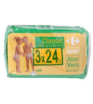 Carrefour Baby Toallitas bebé Classic con aloe vera Pack de 3