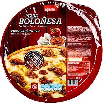 ALIADA Pizza boloñesa cocida en horno de piedra  envase 400 g