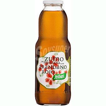 Santiveri Zumo de manzana con arándano rojo sin azúcar añadido Frasco 1 l
