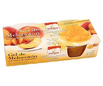 Golden Gel de melocotón con trozos de fruta pack 2 x 120 g