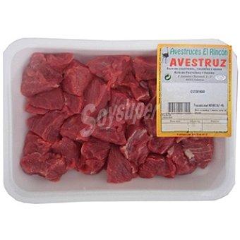 Rincon Carne magra para guisar o estofado (ragout) de avestruz Bandeja 400 g