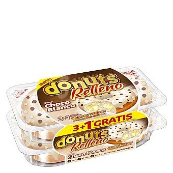 Donuts Berlinas rellenas de chocolate blanco 3+1 ud