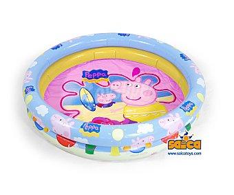 Saica toys Piscina hinchable infantil con motivos de Peppa Pig, con medidas de 110x25 centímetros, capacidad de 53.63 litros y recomendada para niños de + 3 años 1 unidad