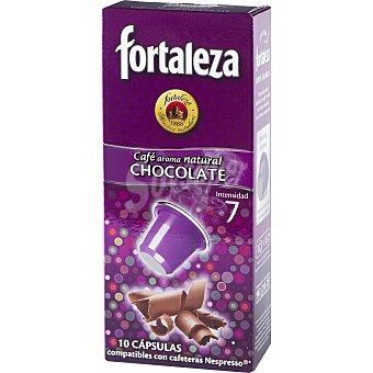 Fortaleza Café aroma natural chocolate càpsulas Caja 10 cápsulas