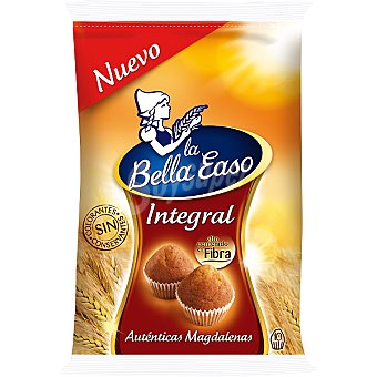 La Bella Easo Magdalenas integrales con alto contenido en fibra 10 unidades bolsa 292 g 10 unidades