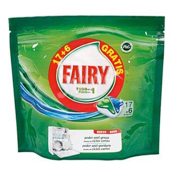 FAIRY Lavavajillas todo en uno  Paquete de 17+6 lavados gratis