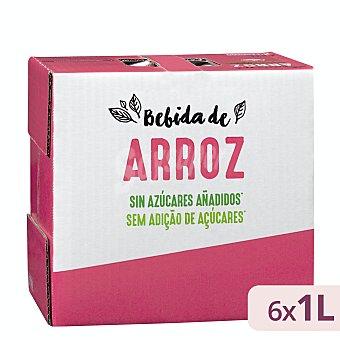 Hacendado Bebida de arroz sin azúcares añadidos Pack 6 briks x 1 l - 6 l