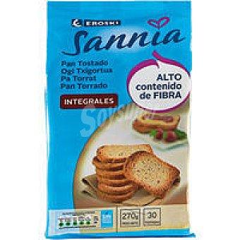 Eroski Sannia Pan tostado integral Paquete 270 g