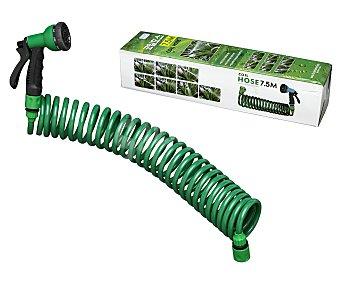Productos Económicos Alcampo Manguera en espiral con pistola, 15m alcampo