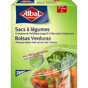 ALBAL bolsas de conservación Verduras frescas con microporos caja 7 unidades mantiene la fruta y la verdura fresca 3 litros
