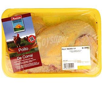 Auchan Producción Controlada Bandeja de pollo de corral troceado en 4/4 1,140 Gramos