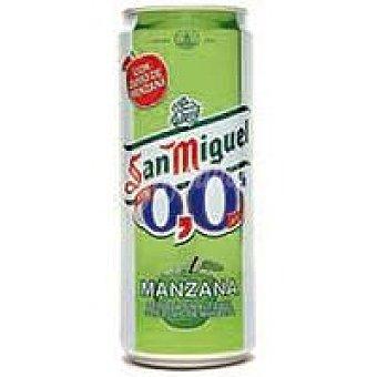 San Miguel Cerveza sin alcohol sabor manzana Lata 33 cl