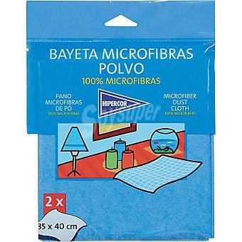 HIPERCOR bayeta microfibras polvo 35 x 40 cm paquete 2 unidades