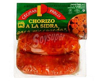CECINAS PABLO Chorizo Maragato a la sidra para calentar en el microondas 2 unidades de 100 gramos